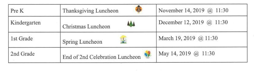 Special Luncheons