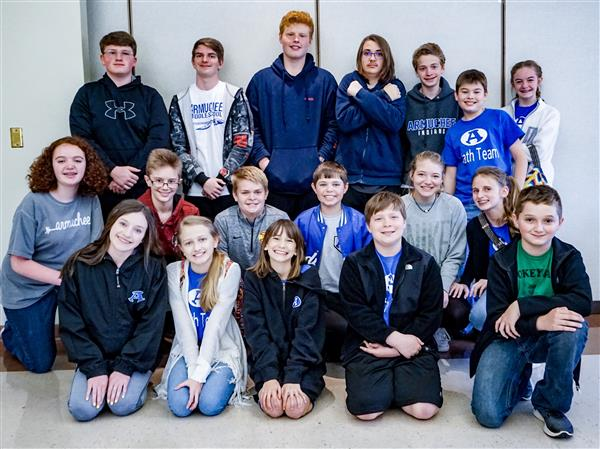 Armuchee Middle wins annual Floyd County Schools Middle School Math Competition